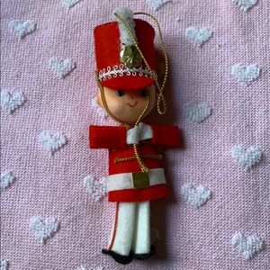 "5"" marching band soldier Christmas ornament Vtg"